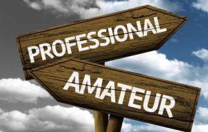 Professional vs amateur actors