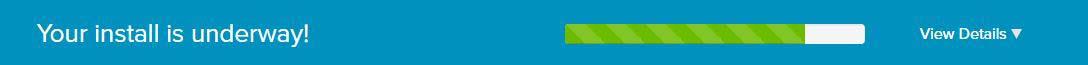 Step 15 - wordpress install progress bar