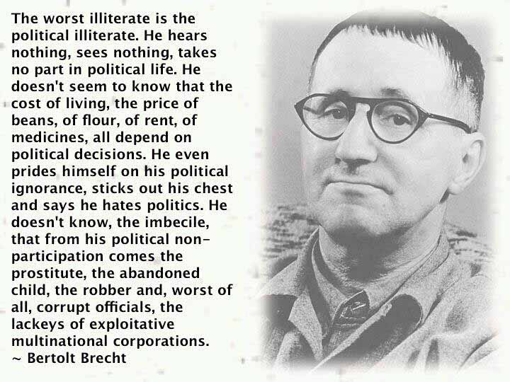 Bertolt Brecht Acting Quote
