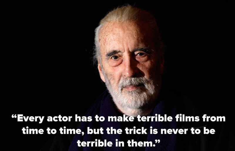 28 Christopher Lee Quote
