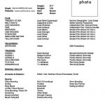 acting cv 101 beginner acting resume example template