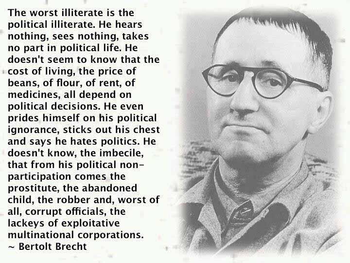 Bertolt Brecht Acting Quote