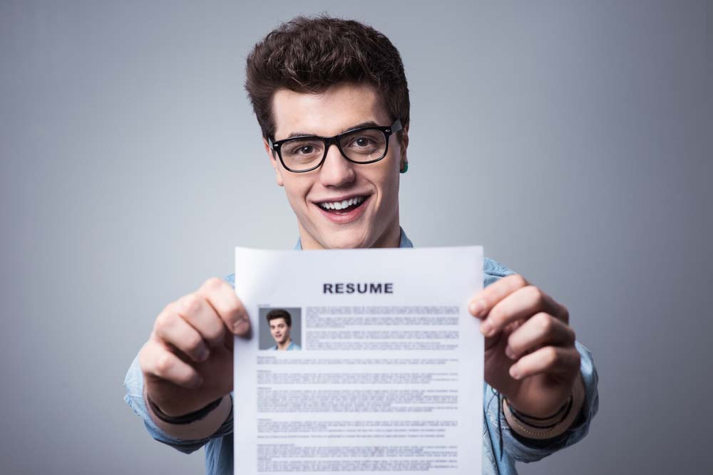 Expert resume writing 1st person