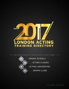 2017 London Acting Training Directory_final_cover